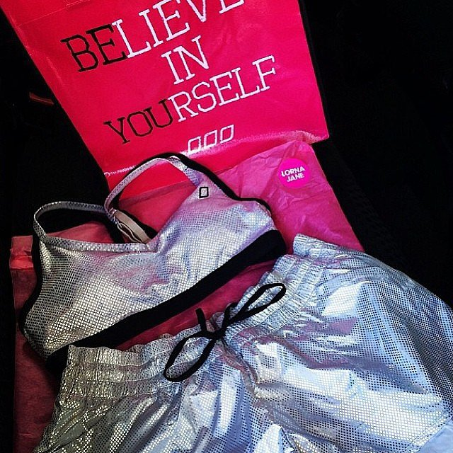 Sparkly new gear from the Lorna Jane Uniquely collection. Source: Instagram user lornajaneactive
