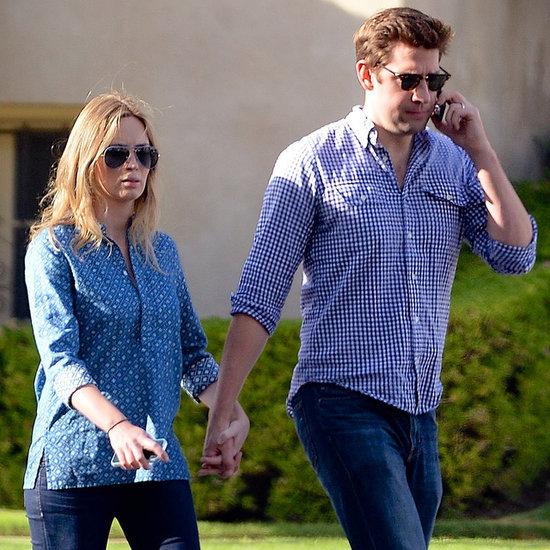 Emily Blunt After Birth With John Krasinski | Pictures