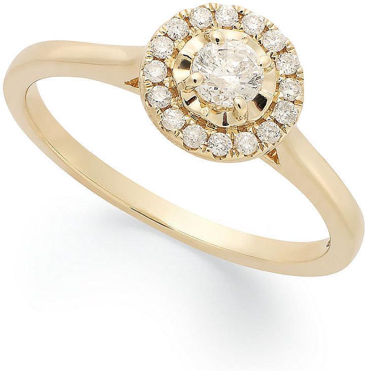 Macy's 14k Gold Engagement Ring ($799, originally $1,000)