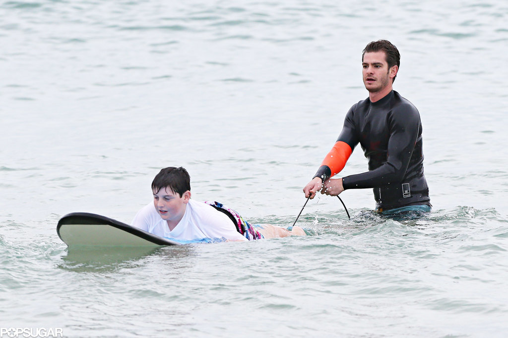 Andrew Garfield Surfing With Kids Makes For a Feel-Good Friday