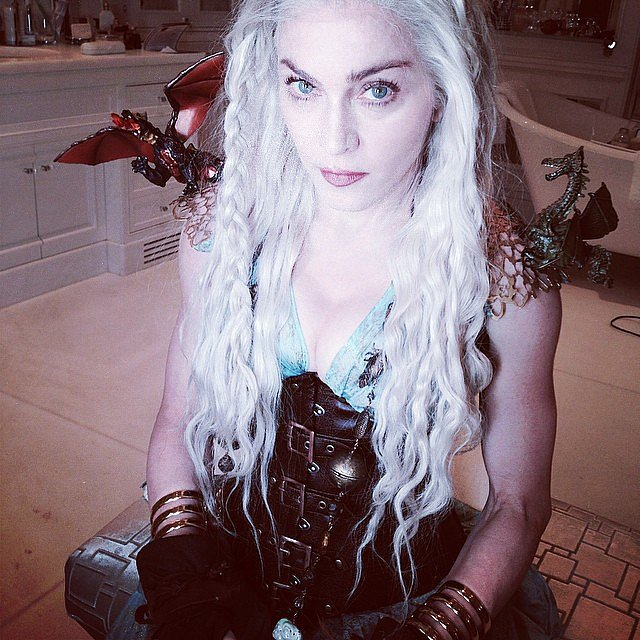 Madonna dressed up as Khaleesi from Game of Thrones. Source: Instagram user madonna