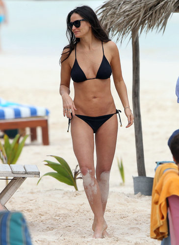 In January 2014, Demi Moore wore a black two-piece in Tulum, Mexico.