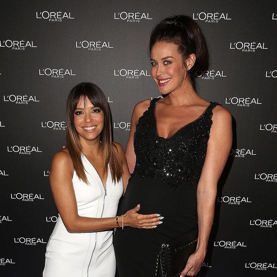 Megan Gale and Eva Longoria at Melbourne Fashion Festival