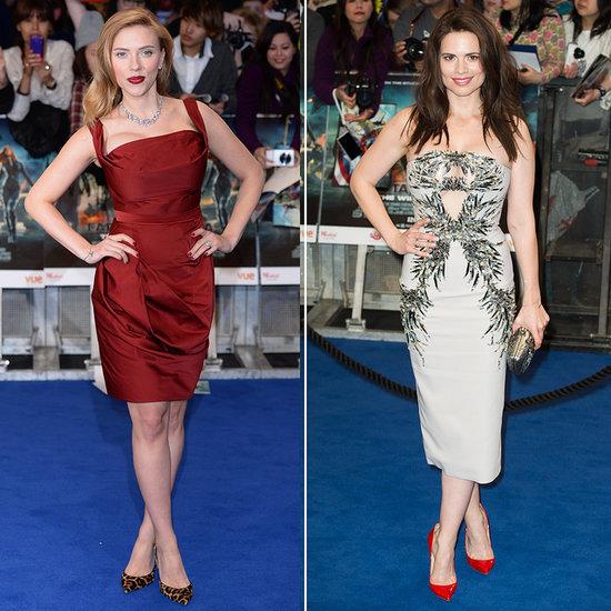 Scarlett Johansson at the Captain America London Premiere