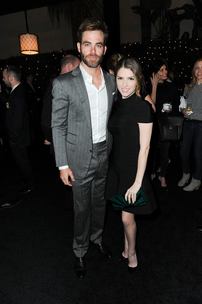Chris Pine made his first postarrest appearance with Anna Kendrick.