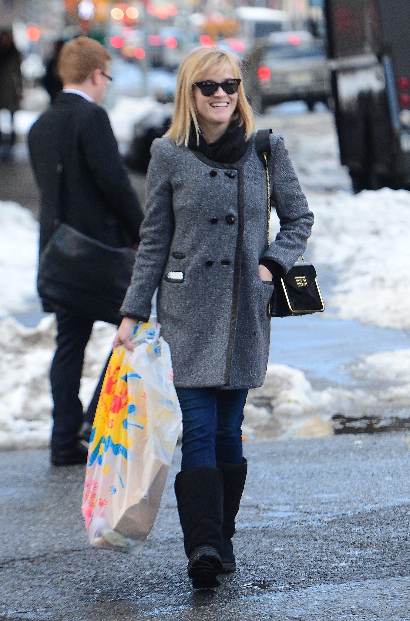 Reese Witherspoon in Tweed Coat