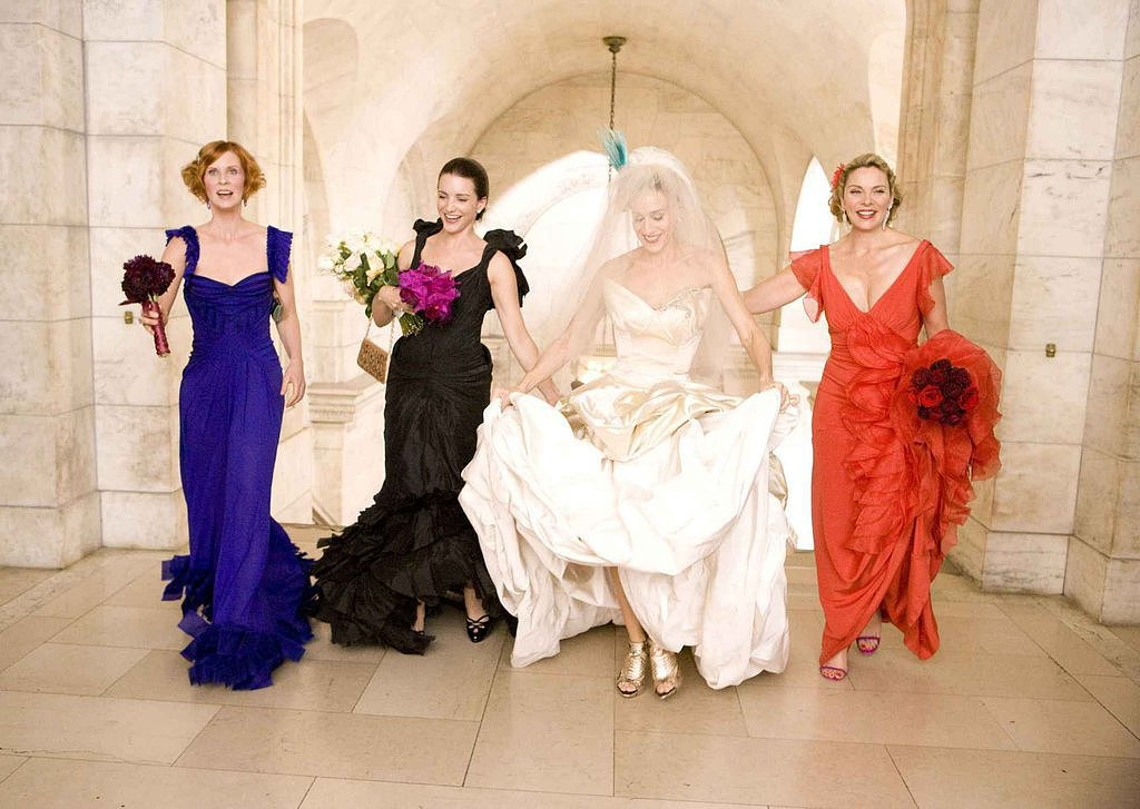Multicolored Bridesmaids' Dresses