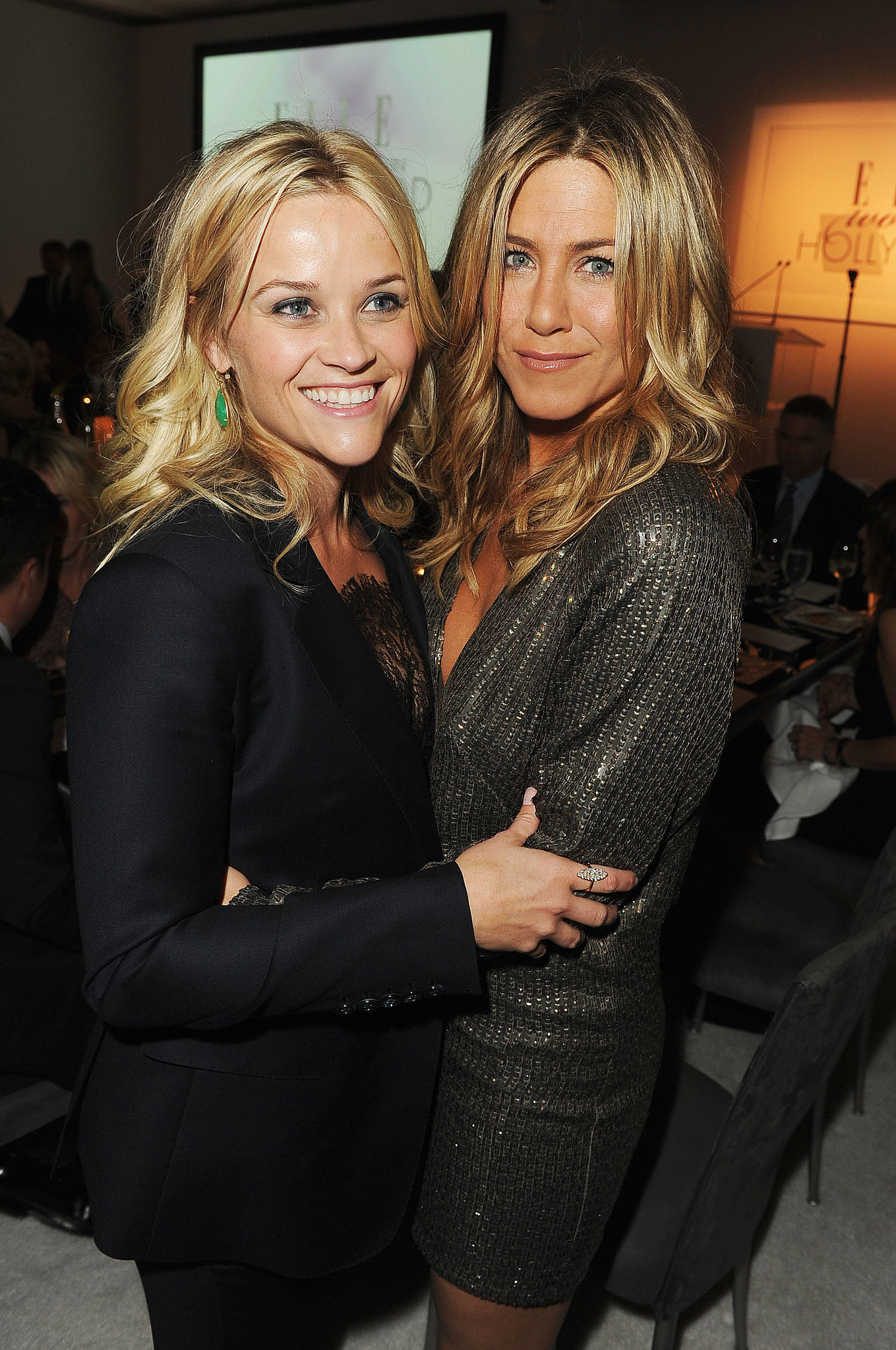 Reese was reunited with pal Jennifer Aniston at the Elle Women in Hollywood event in October 2011.