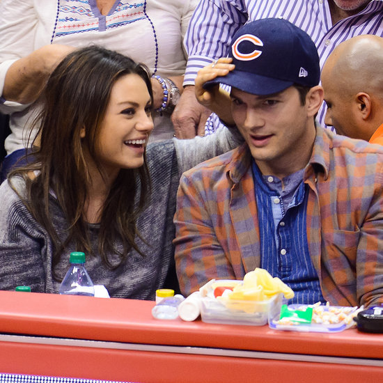 Mila Kunis and Ashton Kutcher Kiss Cam Video and GIFs