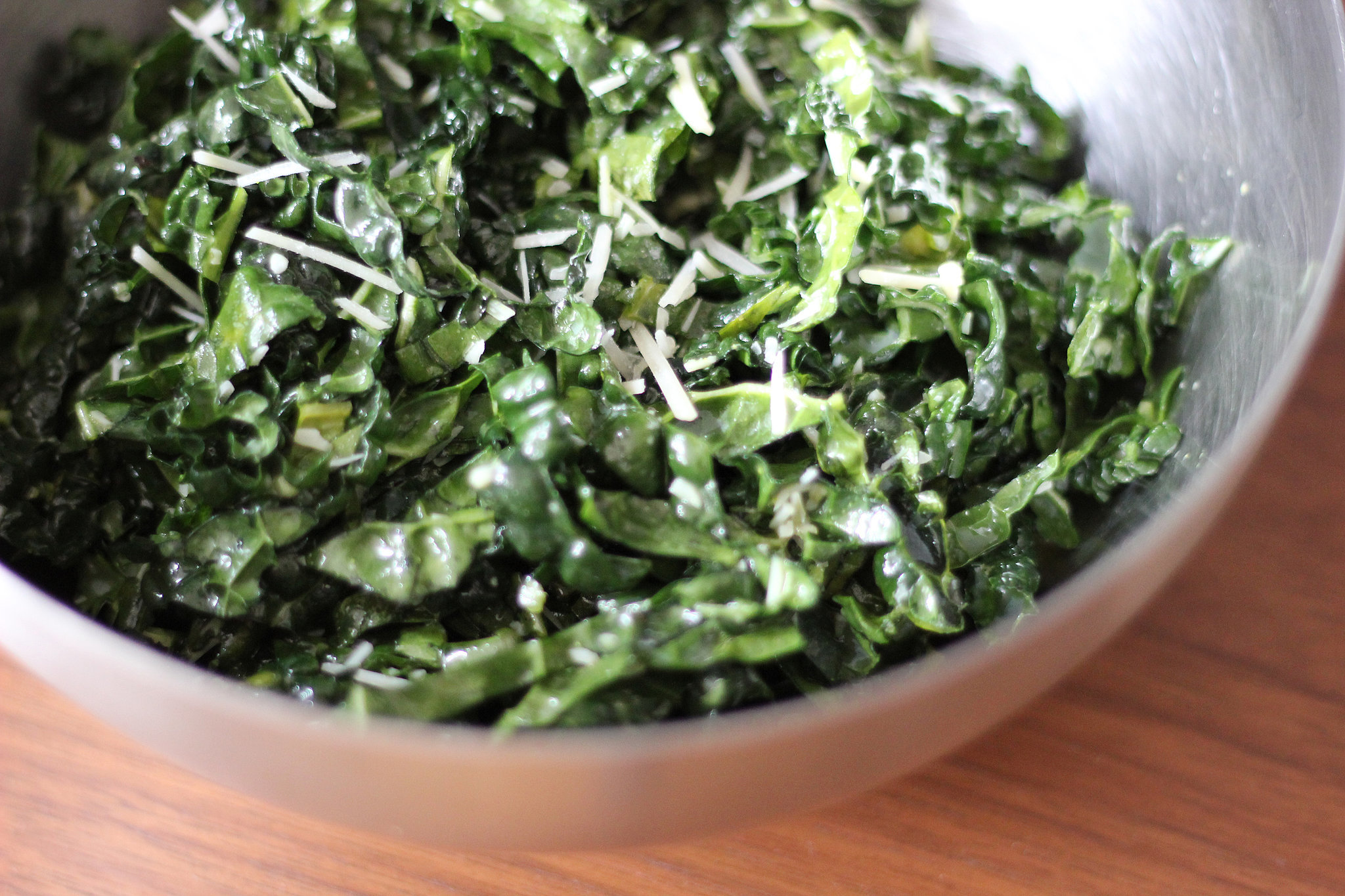 Eggless Kale Caesar Salad