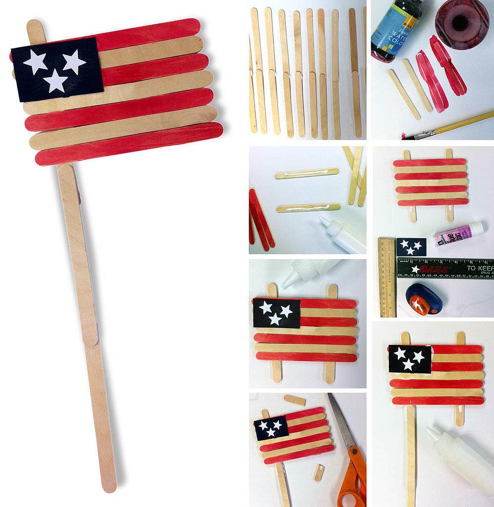 Popsicle Stick Flag