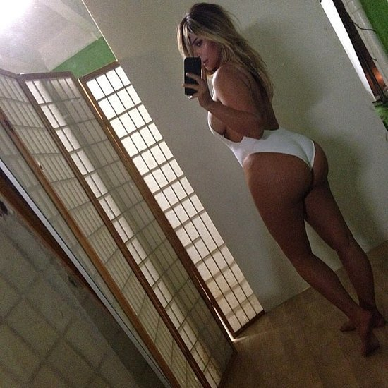 Kim Kardashian showed off her postbaby body with a now-infamous selfie.