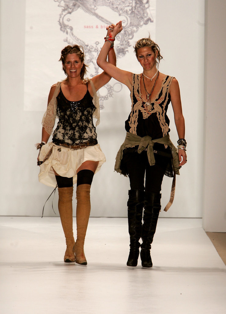 Sarah-Jane Clarke and Heidi Middleton at Spring 2006 New York Fashion Week
