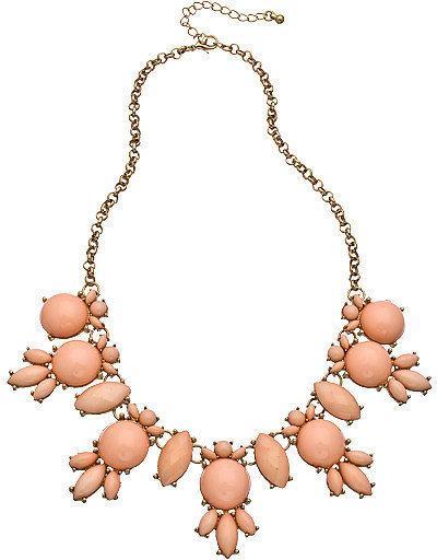 Blu Bijoux Gold and Pink Bubble Necklace ($30)