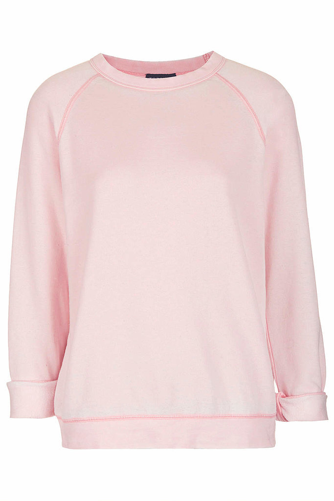 Topshop Long Sleeve Burnout Sweatshirt ($45)