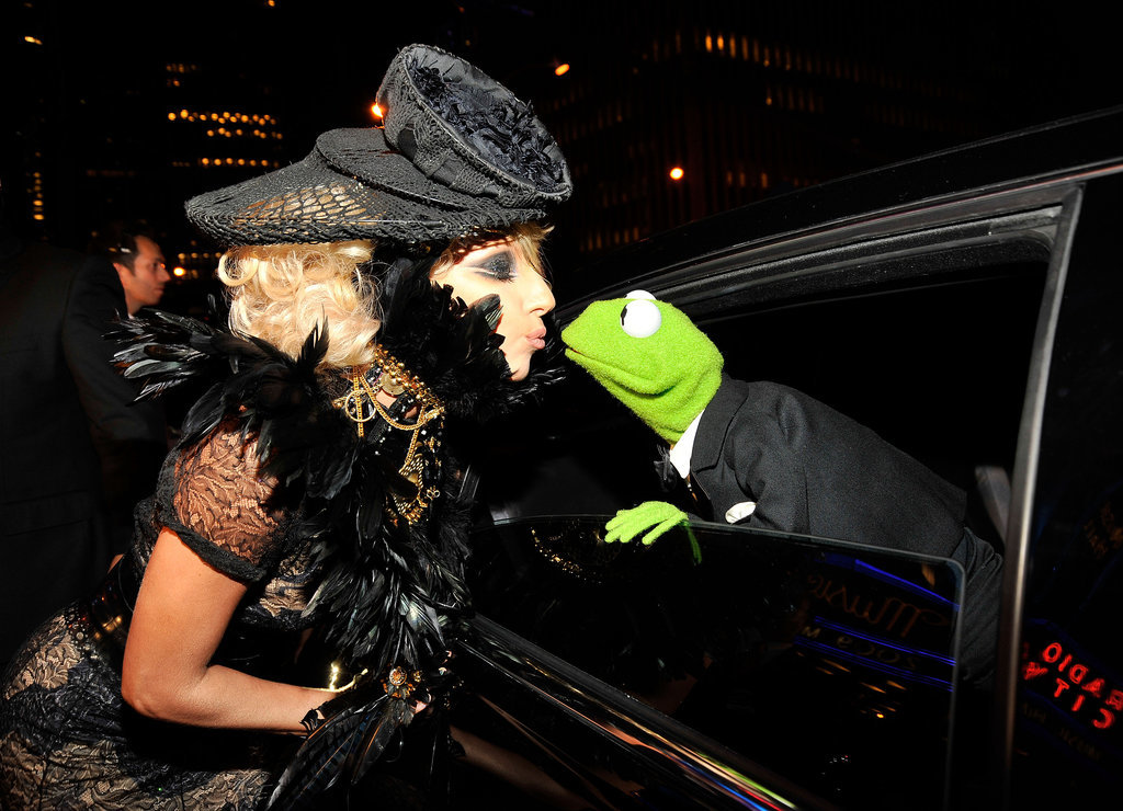 She Kissed Kermit the Frog Just Before Turning Him Into a Poncho