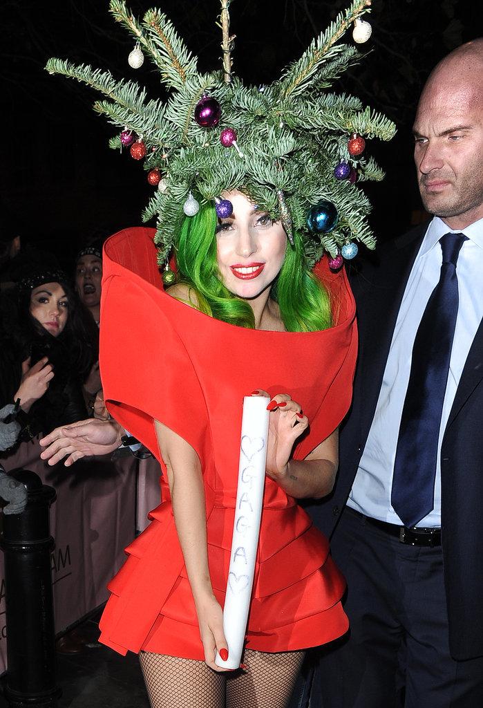 She Literally Became a Christmas Tree