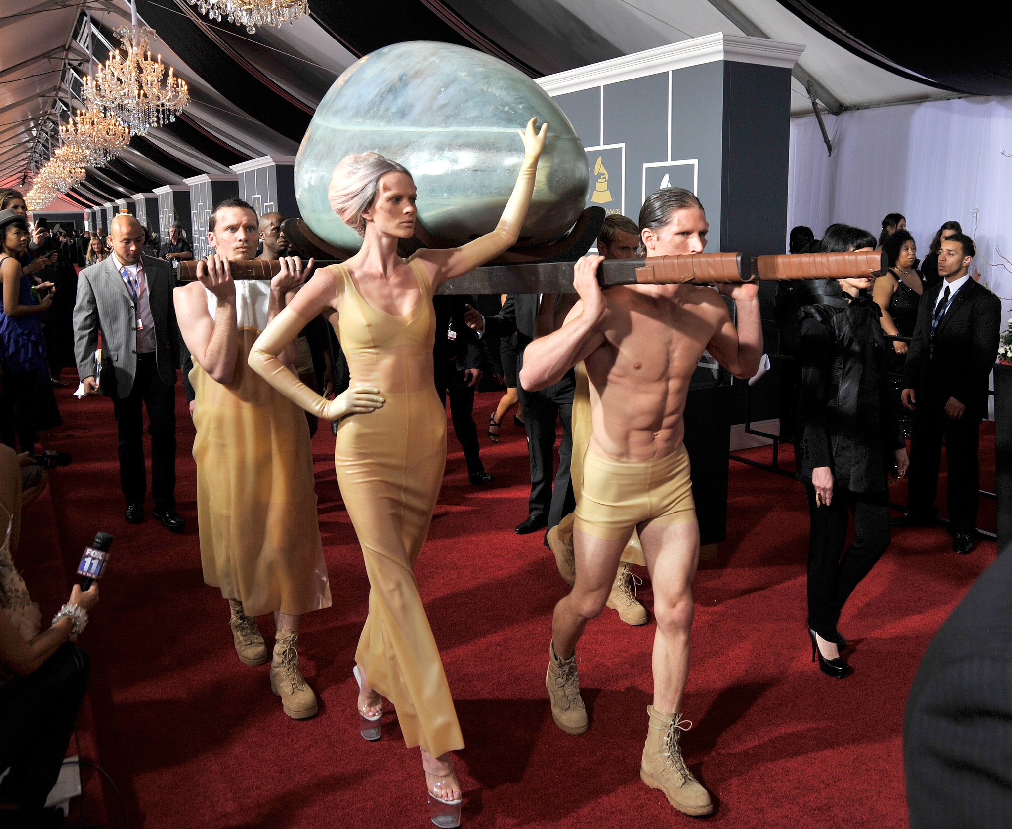 She Arrived at the Grammys in an Egg . . . and Didn't Emerge Until Her Performance