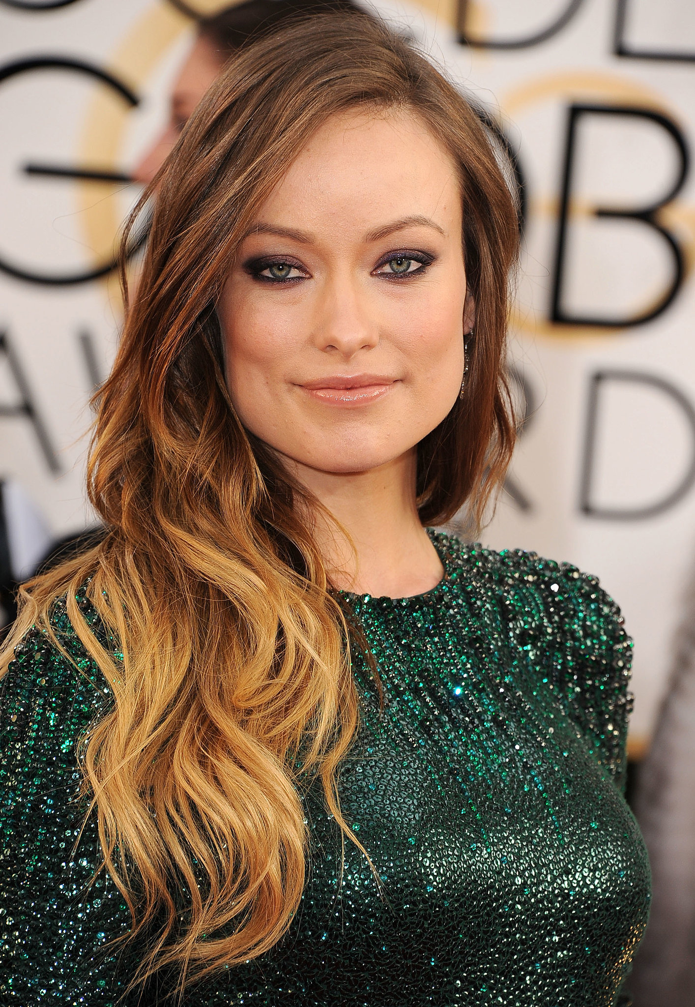 Olivia Wilde's Ombre Waves