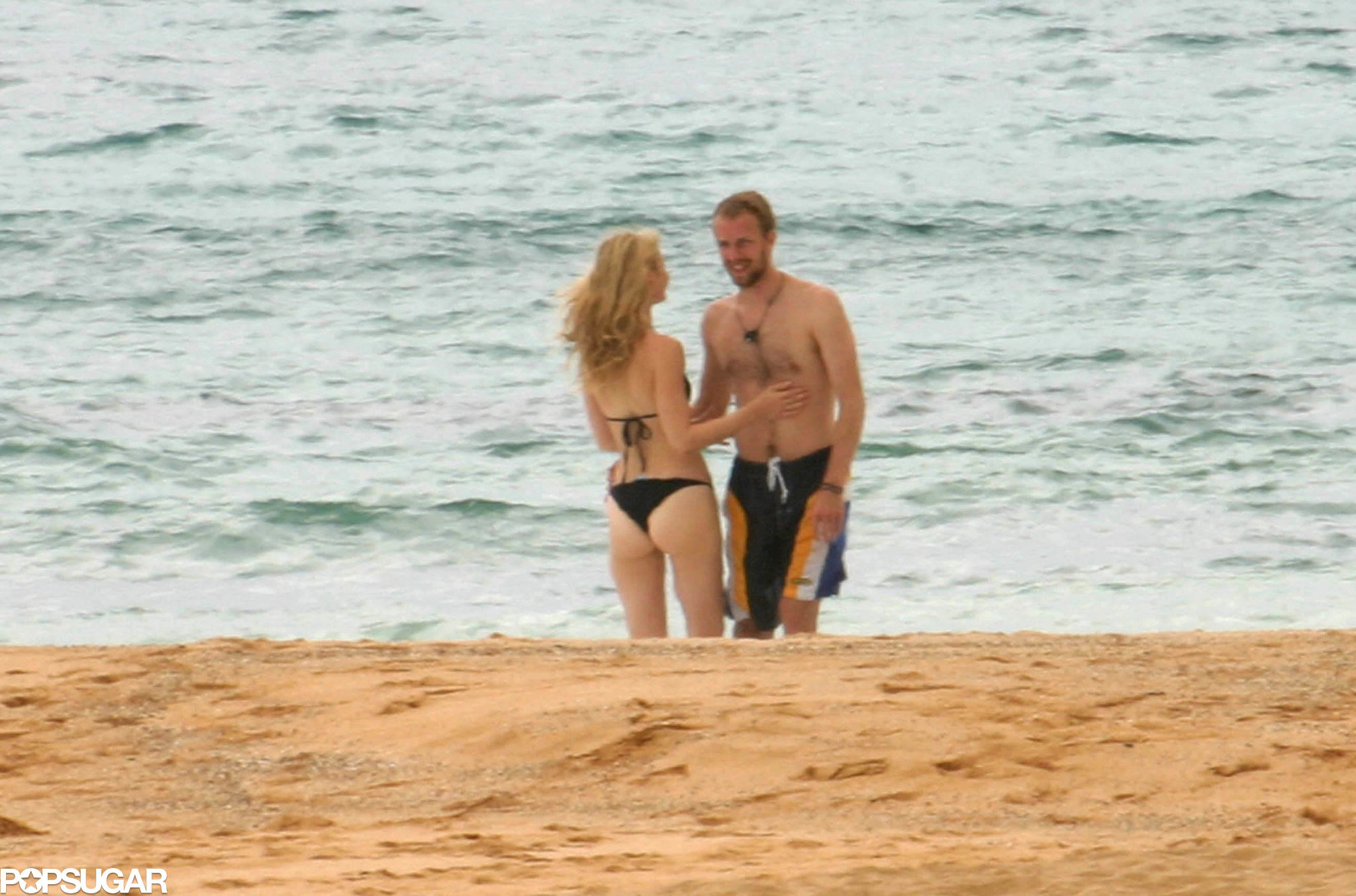 When they escaped to Mexico for their honeymoon after their secret 2003 wedding.