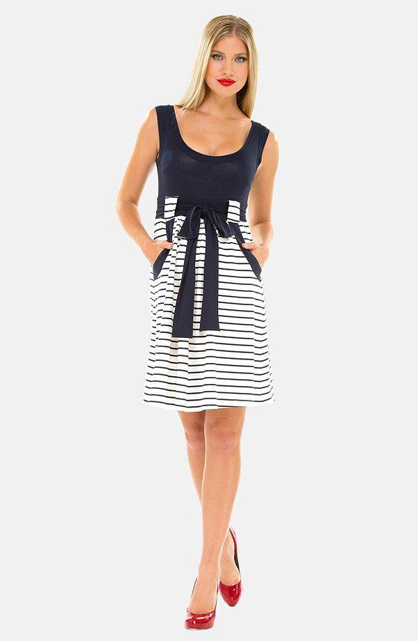 Olian Stripe Maternity Dress