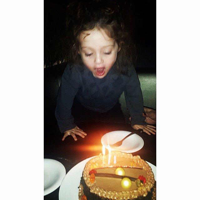 Skyler Berman celebrated his third birthday with a fancy cake. Source: Instagram user rachelzoe