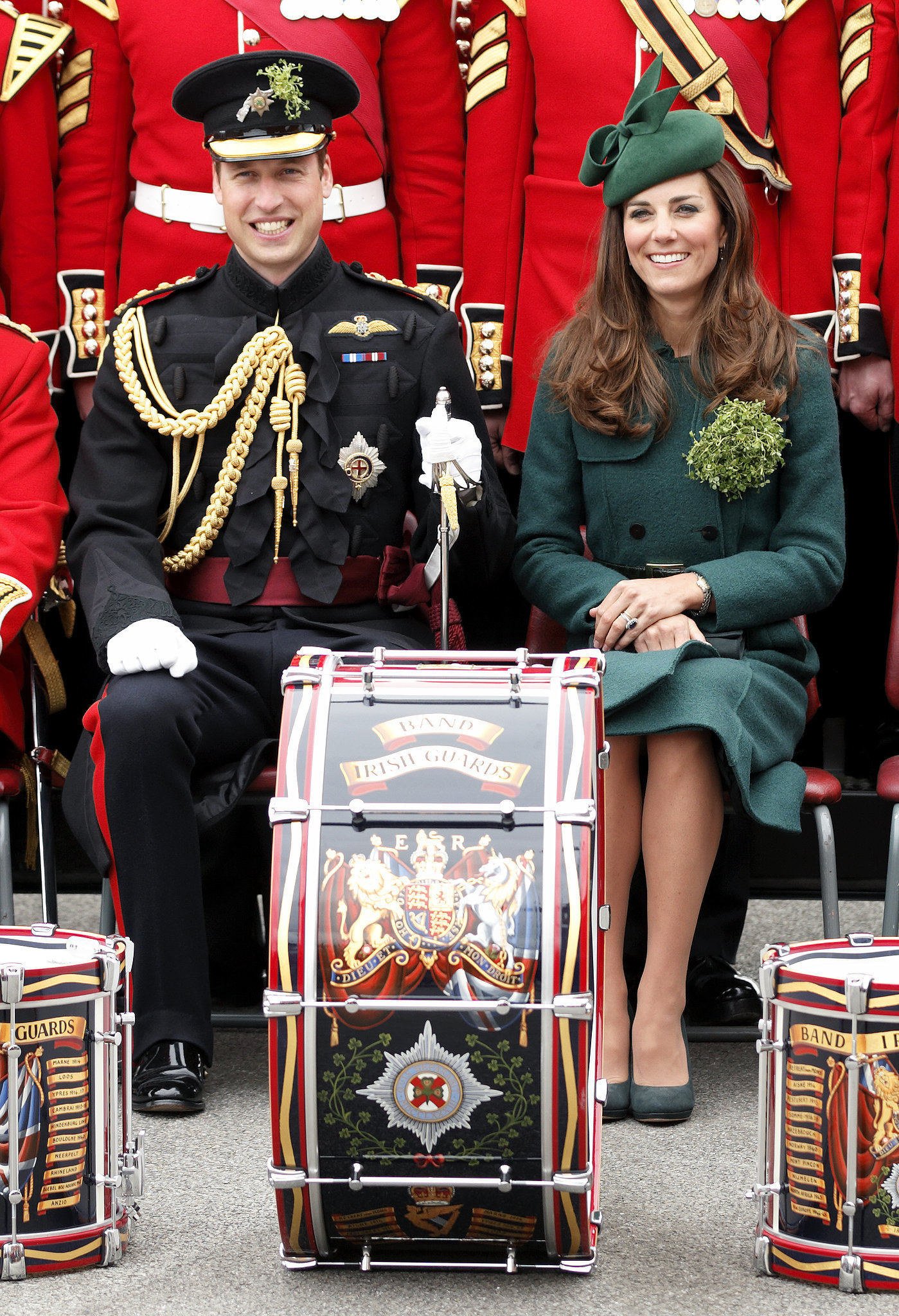 The Duke and Duchess of Cambridge attended the St. Patrick's Day parade in 2014 in Aldershot, England.