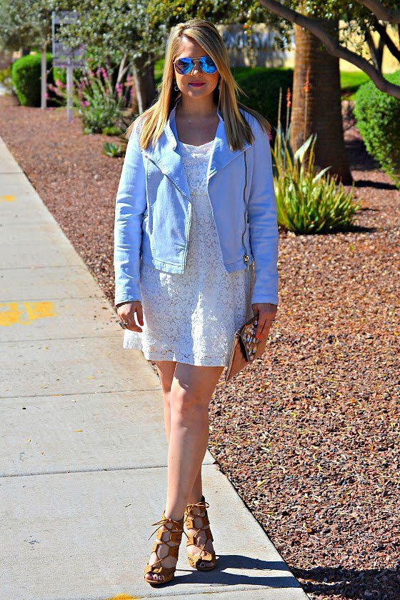 Congrats, EnvisionPretty! We love how you edged up your adorable dress with a chic moto.