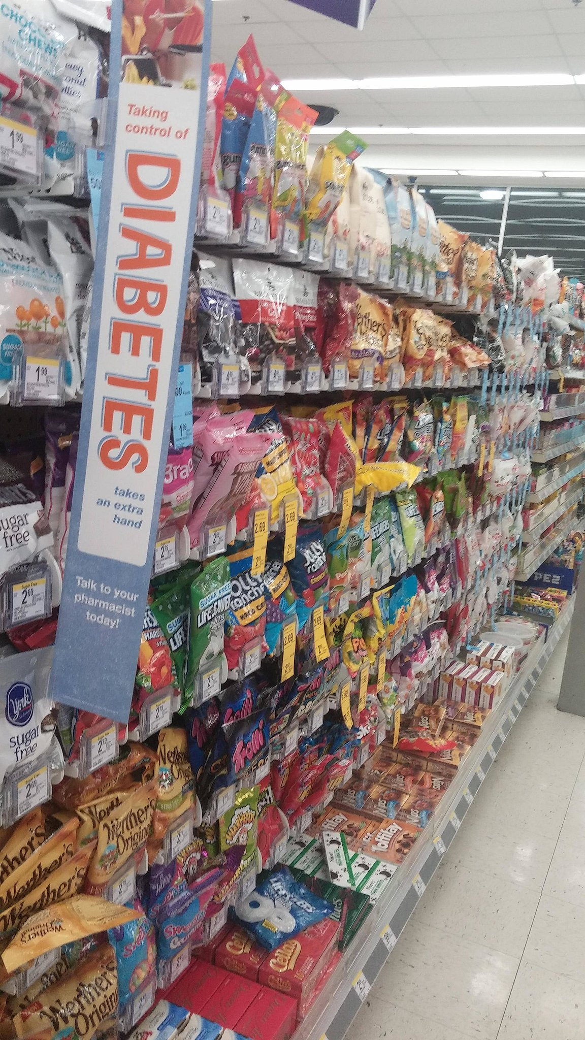 """""""I've always called it the candy aisle, but this works too . . ."""" Source: Reddit user zqillini4 via Imgur"""