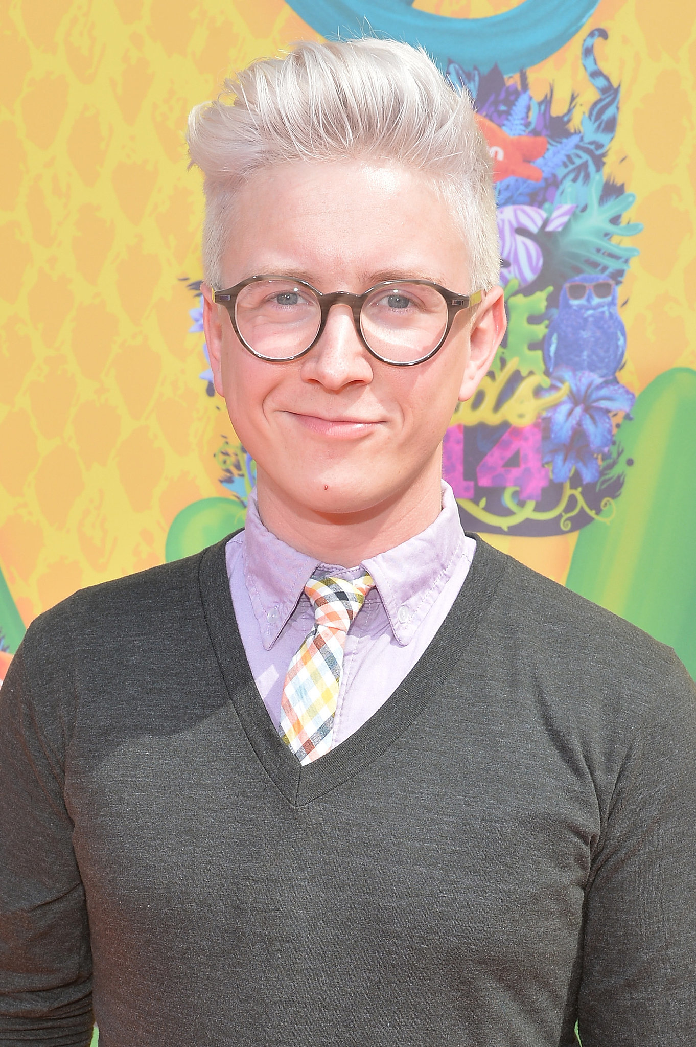 YouTube personality and POPSUGAR's Top That cohost Tyler Oakley brought his frames along.