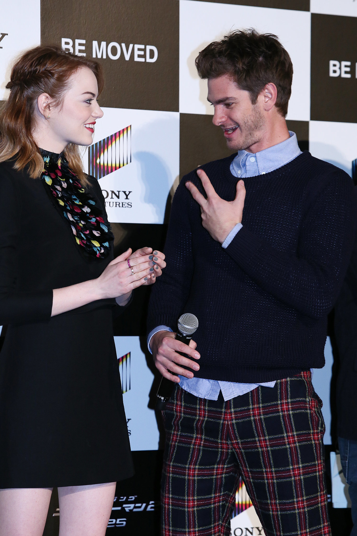 Andrew and Emma Get Caught in a Web of Cuteness With Fans