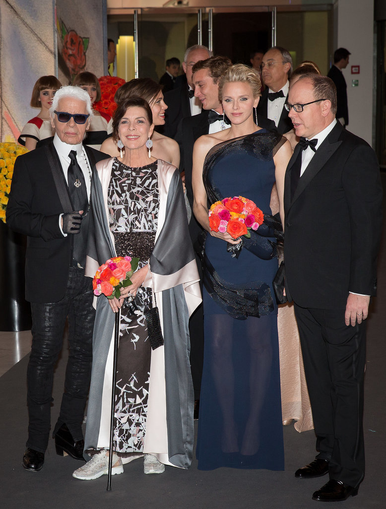 Karl Lagerfeld and Princess Caroline were also in attendance.