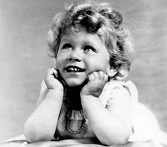 At age 2, Elizabeth was all smiles.  Source: Photo courtesy of The British Monarchy
