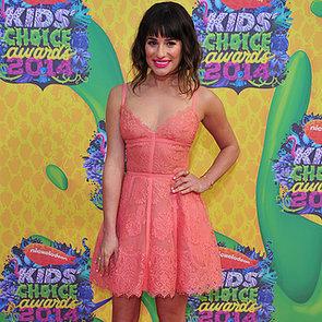Lea Michele Wears Elie Saab to the Kids' Choice Awards