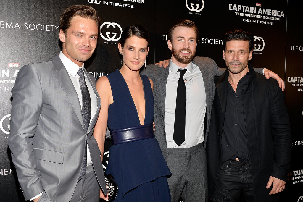 Cobie linked up with her costars Sebastian Stan, Chris Evans, and Frank Grillo.