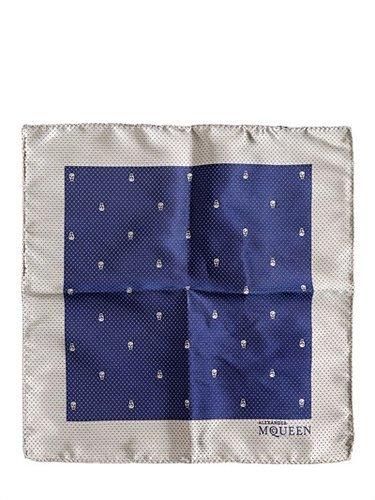 Alexander Mcqueen - Skulls & Polka Dots Silk Pocket Square