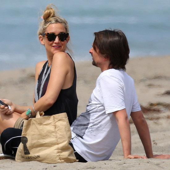 Kate Hudson and Matthew Bellamy on the Beach in Malibu