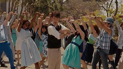 You're dancing in the streets! You're basically made of sunshine!