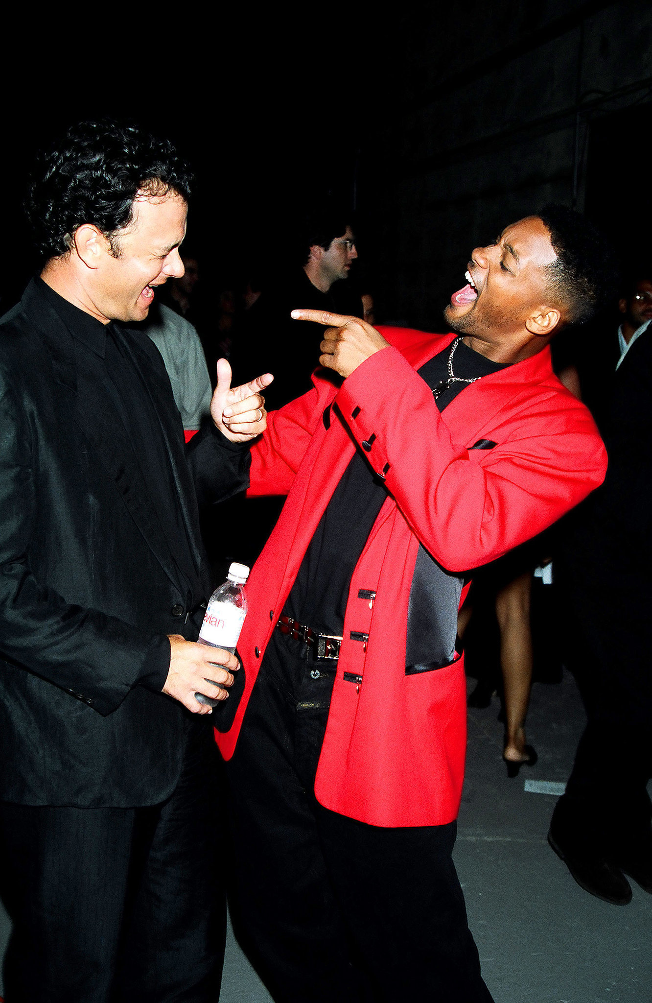 Tom Hanks got chummy with Will Smith.