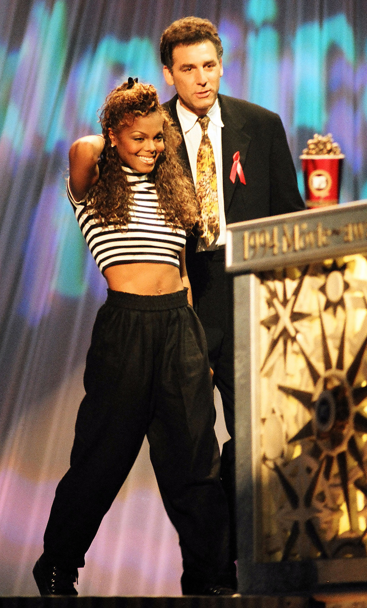 Janet Jackson shared the stage with Seinfeld's Michael Richards.