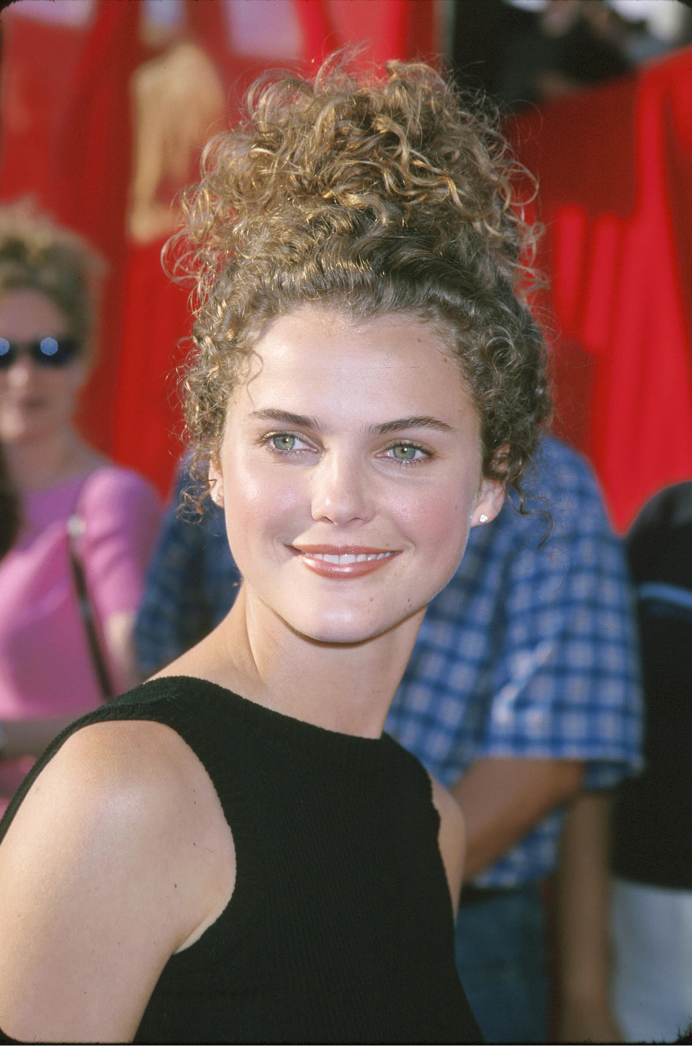 Keri Russell had curly hair.