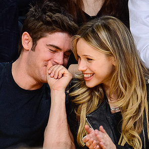 Zac Efron and Halston Sage at LA Lakers Game   Pictures