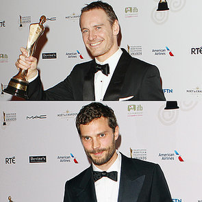Michael Fassbender and Jamie Dornan at the 2014 IFTAs