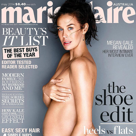 Pregnant Megan Gale Poses Nude For Marie Claire Magazine