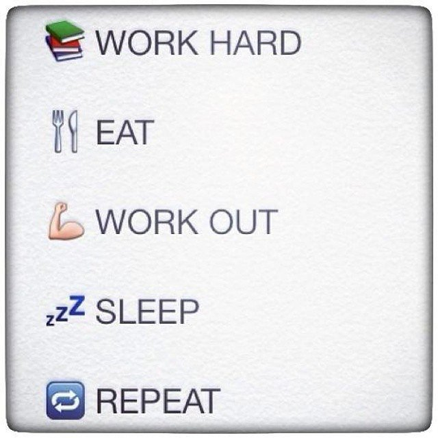 Life in emoji's. Source: Instagram user fitnessgirlmotivation
