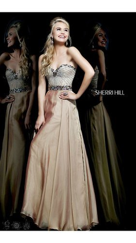 Sequins Sherri Hill 1923 Nude Prom GownOutlet