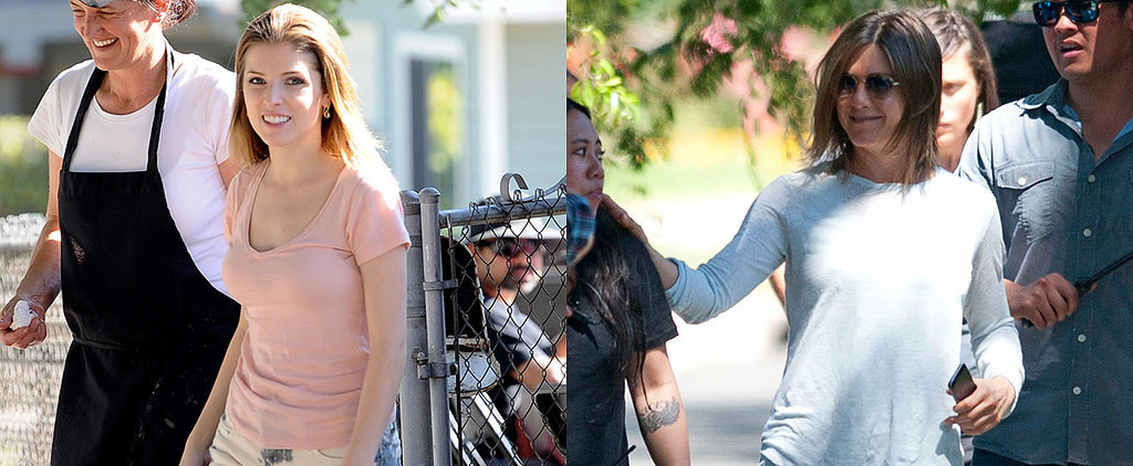 Anna Kendrick Gets Ready to Haunt Jennifer Aniston on Set