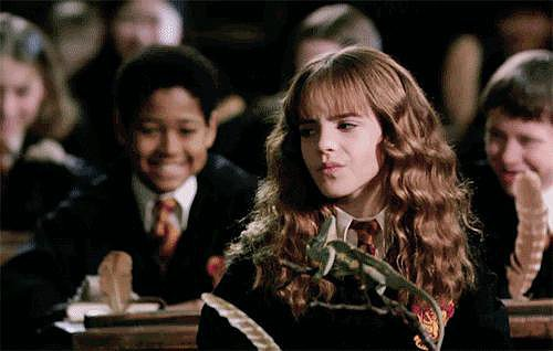 When she perfectly played Hermione Granger.