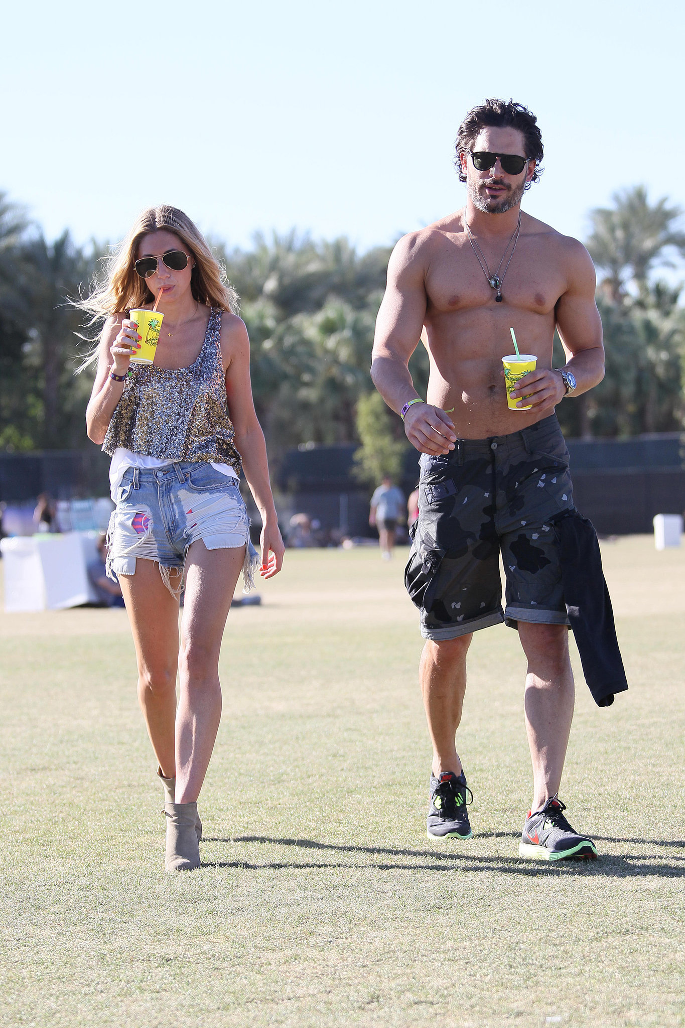 Joe Manganiello went shirtless in the deser