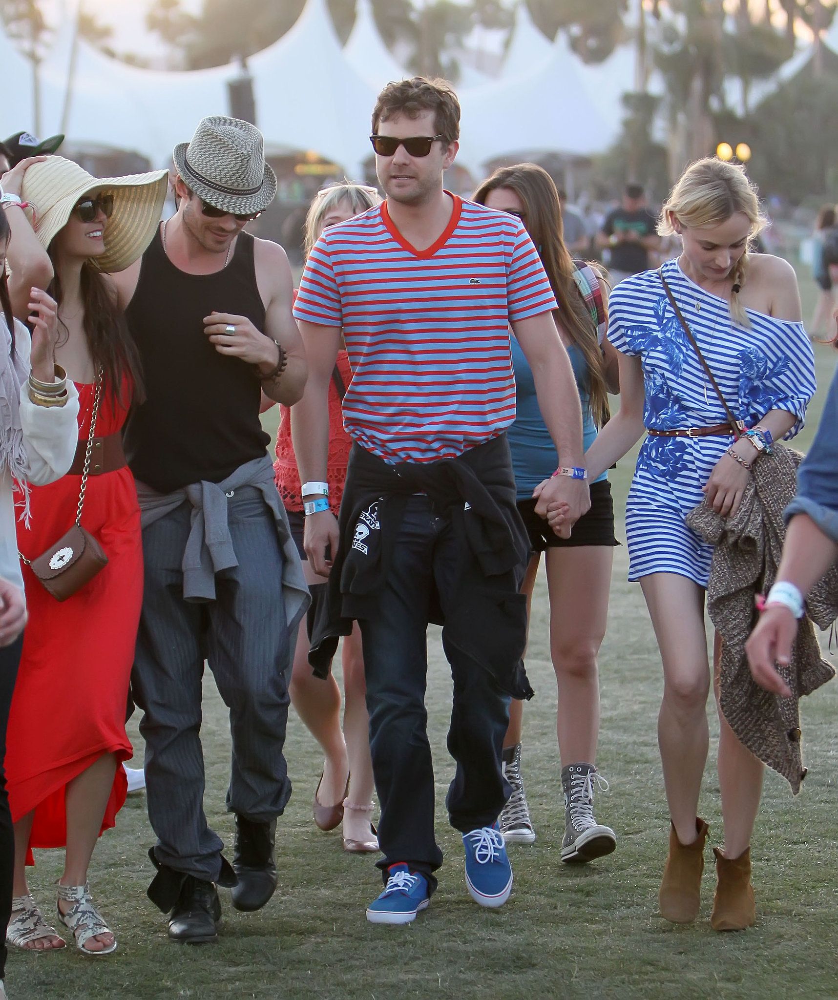 Nina Dobrev and Ian Somerhalder met up with pals Diane Kruger and Joshua Jackson on day three in 2012.